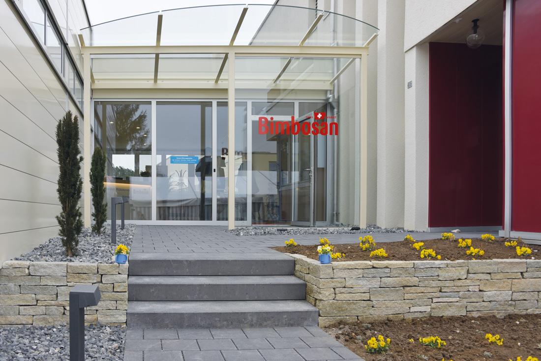 Eingangstuer Bimbosan aus Glas