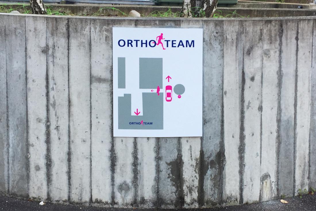 Orientierungsplan oder auch Situationsplan, der den Kunden zeigt wo sich das Orthoteam befindet.