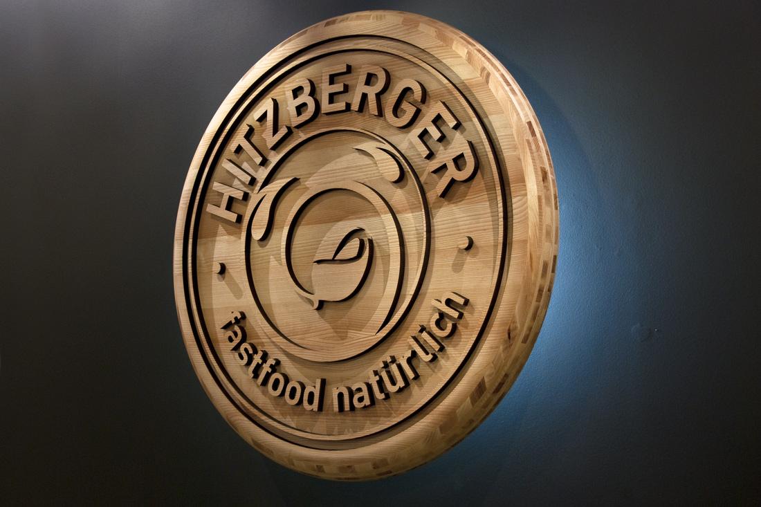 Bildwelten Marke: Dreidimensionale, hinterleuchtete Holzrondelle von 80 cm Durchmesser aus umweltfreundlichen Materialien hergestellt