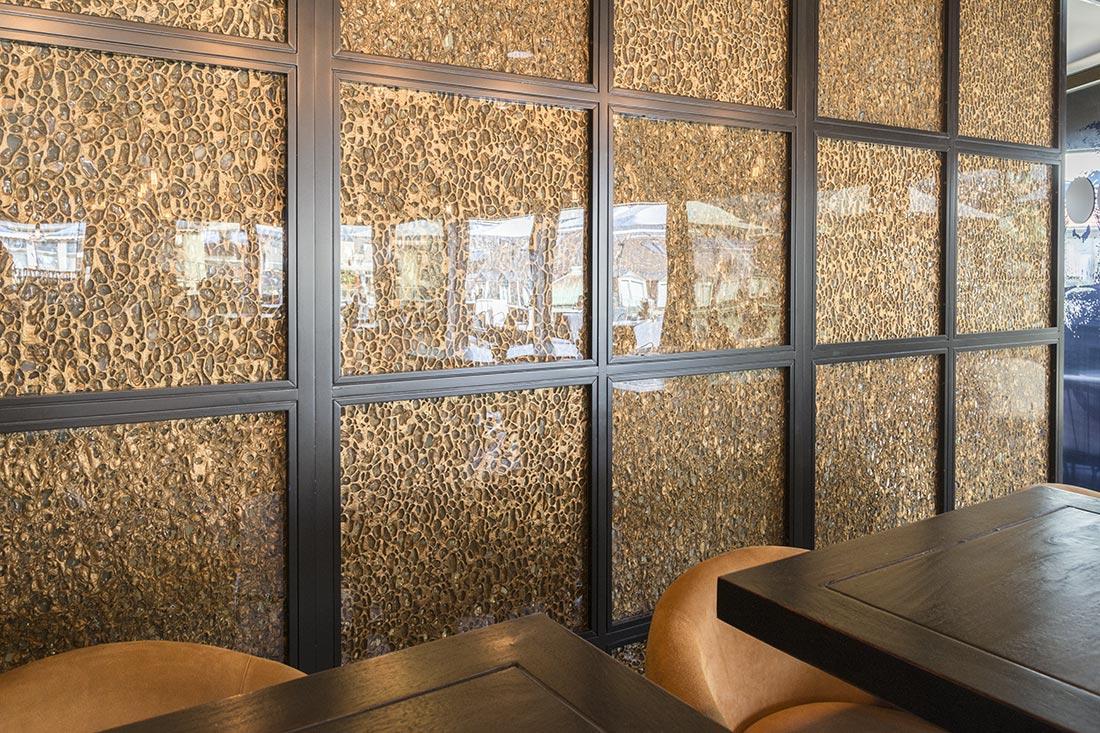 Glas Trennwand Fertige Konstruktion