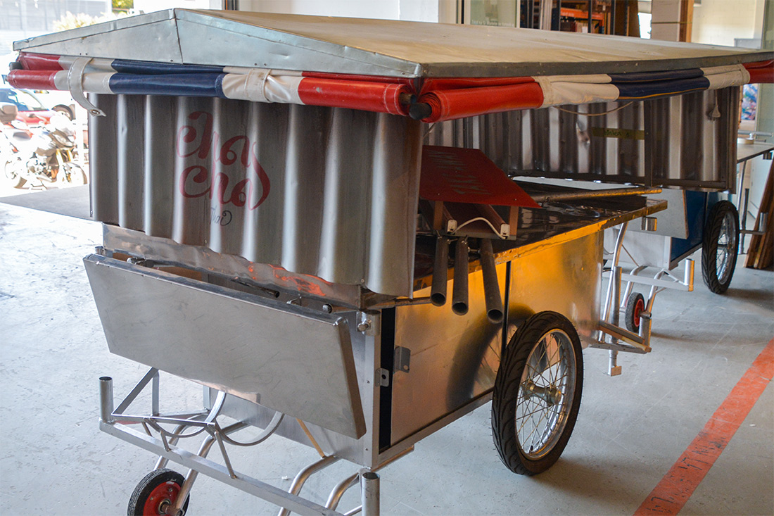 Ein Wagen der Spanisch Broetli-Bahn zur authentischen Umsetzung mit Bezug zu Baden