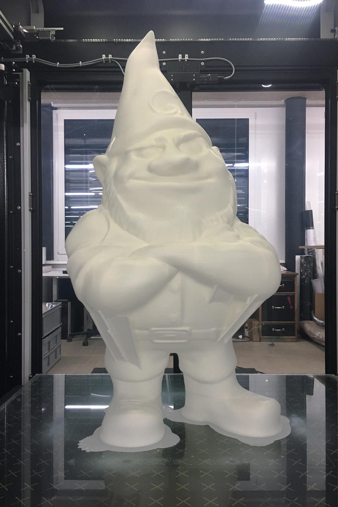 3D-Skulptur eines lebensgrossen Zwerg-Maskottchen für Minergie Schweiz